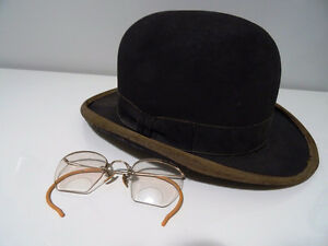 early BOWLER DERBY gent's hat BOND Calhoun's Stores STEAMPUNK Kitchener / Waterloo Kitchener Area image 3