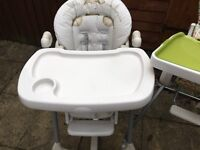 2x high chairs for sale £5 each