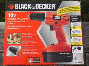 Black and Decker Cordless Drill - 18V