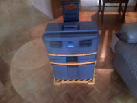 Mastercraft Stackable Mobile Tool Box with Wheels