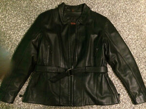 Lady's leather motorcycle jacket