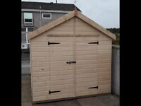 8ft by 10ft ship lap tongue and groove shed