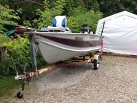 Aluminum fishing boat 1990 Legend