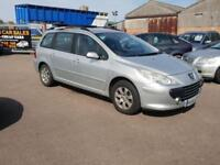 Peugeot 307 1.6HDi S Estate, 90hp, Cambelt Done, With Dog Cage Installed