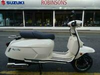 Royal Alloy GP 125cc Modern Classic Retro Automatic Moped Scooter learner Leg...