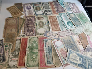 China and Japan - 40 banknotes money from 1930's - 1940's