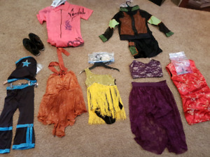 Dance costumes and tap shoes