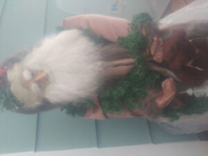 4 foot tall realistic old fashioned looking Santa Claus