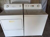 American style heavy duty tumble dryer and washing machine