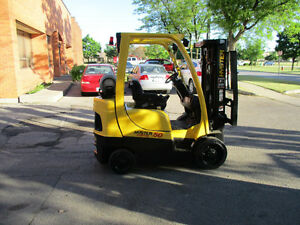 2005 Hyster forklift 5000Lb capacity 3stage mast with side shift