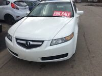 2004 Acura TL WHITE Sedan