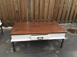Beautiful large coffee table and side table