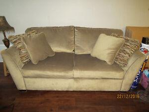 Sofa with cushions Cambridge Kitchener Area image 1
