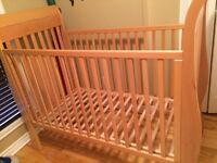 Baby wood crib, lit Bebe, bed