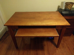 Small Wooden Office Computer Desk