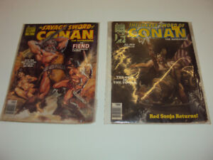 The Savage Sword of Conan, Comics, #'s 28 & 45