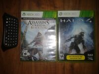 Halo 4 and Assassins Creed IV Black Flag for Xbox 360