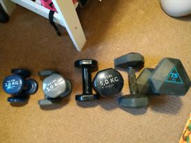 Dumbbells set, weights