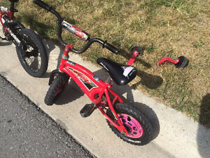 """3 Boys Bikes (2 x 12"""" and a 16"""") and  a Tricycle"""