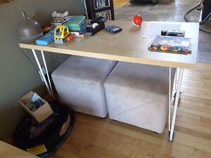IKEA table / desk with wheels