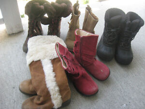 Girls' boots, sizes 10 and 11
