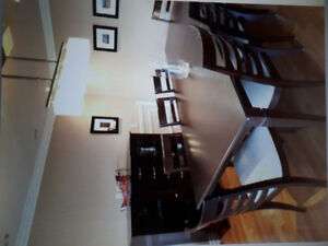 Dinning table set with buffet