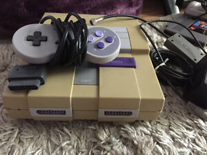SNES Console with controller