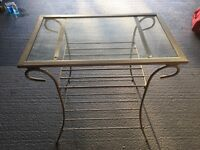 Glass Top Table/TV Stand