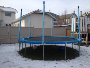 14 foot trampoline...no net.. also 12 foot net 20