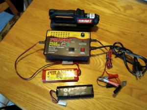Chargeur+ 2batteries 110&12 volts vente rapide