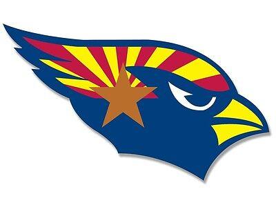 State Flag Bumper Sticker - 3x5 inch Cardinals SHAPED Arizona State Flag Sticker -decal shape logo az bumper