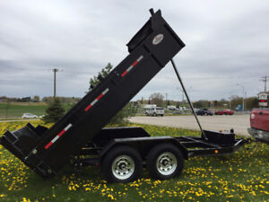 DUMP TRAILER MUST SELL 6 1/2 FT X 12 1/2 FT LONG 7 TON