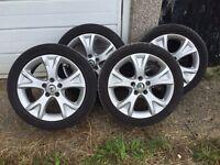 """Original 17"""" alloy wheels 5x112 skoda vw seat audi"""