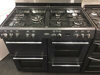 BELLING BRAND NEW 100CM DUAL FUEL RANGE STYLE COOKER IN BLACK