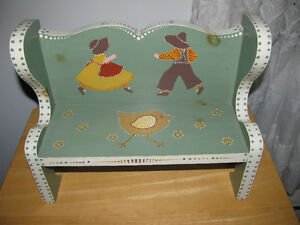 FOLK ART DOLL BENCH