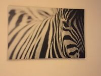IKEA zebra canvas print