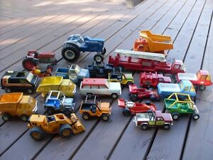 1970s Tonka Ertl Metal Trucks Tractors & WW II Model Planes Ship