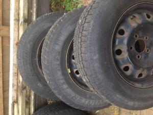215 70R15 winter tires on rims