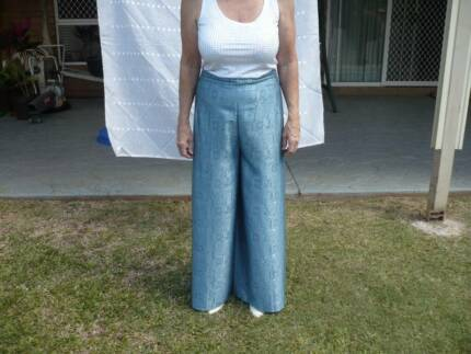 soft silk dress pants.fit any size.pale blue patterned Wellington Point Redland Area Preview