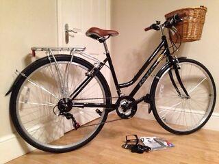 Ladies new Dutch loop hybrid commuting bike + accessories