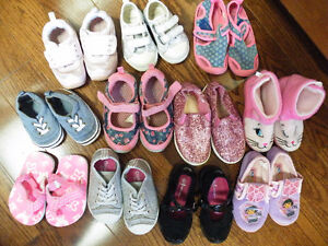Girls shoes, various sizes, 11 pairs