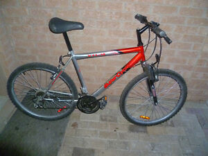 """26"""" 18 speed Super Cycle Bike with front suspension, new tires."""