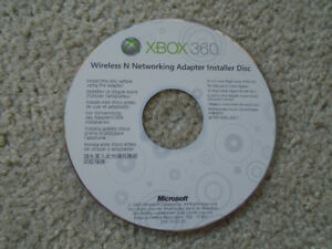 Installation disc for Xbox 360 Wireless Network Adapter...$ 1 !