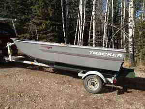14ft. Bass Pro Tracker, trailer and 9.9 Parsun motor