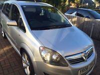 Vauxhall zafira 1.9 CDTI SRI XP silver