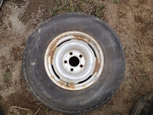 Chevy Truck Rim and Tire - Bolt size 5X127 - 235/75/15