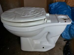 Toilet bowl and back tank