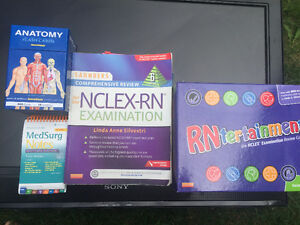 NCLEX and RN Study text books plus RN Board game  $50 for all