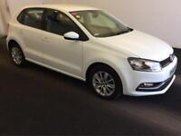 2014 Volkswagen Polo 1.0 BlueMotion Tech SE (s/s) 5dr Petrol white Manual