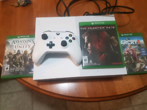 Xbox One S and 4 games